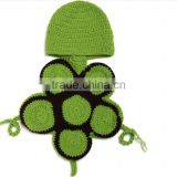 2016 Turtle shape clothes design photo prop newborn baby knit crochet suit newborn photography props