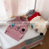 S32887W New Spring Korean Girls Knitted Baby Sweater Wild Kids Coat Cute Waistcoat