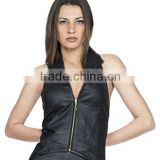 SIDE EDGED LEATHER HALTER FOR WOMEN