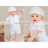 2015 new comfortable baptism clothing set for baby boys.
