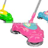 360 degree Rotation Swirl Dustpan Broom Hand Propelled Floor Sweeper