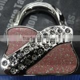 Beautiful crystal purse hanger bag hook handbag holder with metal key chain