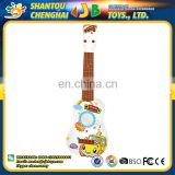 Factory wholesale cheap plastic musical instrument bass guitar toy