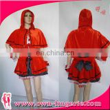 Sexy Women Hot New Fashion RED Sexy Santa Cape Xmas Costume Sexy Christmas Fancy Costume