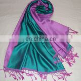 FINEST QUALITY 100% SILK REVERSIBLE SHAWL