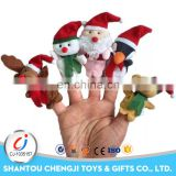 2017 New fashion plush animal toys eco friendly Christmas hand finger puppet