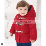 T-BC003 High Quality Horn Buttoned Jacket Thickened Boy Coat