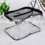 Good service high quality black logo plastic zipper bag