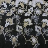 Fashion Garment Accessory Yarn Embroidery Lace Fabric Decoration Textile Cotton