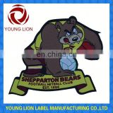 custom t-shirt patches printed cap badge garment label tags supplier