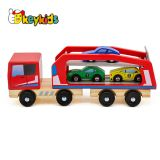 2019 New kids mini wooden toy tractor and trailer for wholesale W04A413
