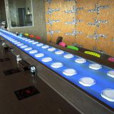 Sushi conveyor belt  system decorated with colorful LED lights - China factory