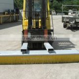 Forklift attachment brush for road truck with high quality