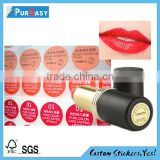 Factory direct lipstick tube red logo label printing