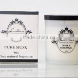 scented candle for home fragrance / 90g pure natural scented candle in glass bottle from manufacturer