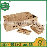 pine wood professional domino game set for kid toys