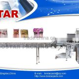 BOS720 Automatic Horizontal Pillow Pack Down Film Packing Machine with CE for Bag Noodle Puffed Food Family Packing