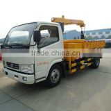 2015 New Dongfeng 2.5ton small truck crane,4x2 pickup truck crane for silt transportation