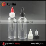 Free samples!!! wholesale 30ml 60ml 100ml 120ml pet plastic balsam bottles with screw cap for glue