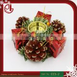 Pine Cone Wooden Candle Holder With Gift Boxes Indoor Home Decoration