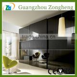 Black Decorative Glass Coated glass Living Room Glass Partition Design
