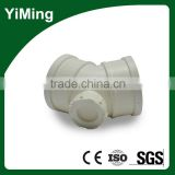YiMing pvc 45 degree inspection tee