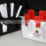 plastic bar coaster napkin stirrer straw organizer holder caddy