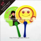 Custom logo plastic hand fan make in virgin materials for promotion