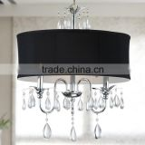 Modern Lamps Chandelier Led Lights Hanging Lamps Home Decor Pendant Lighting Crystal Chandelier Black Fabric Shade CZ1033/3B
