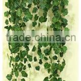 New arrival artificial ceiling hanging vine decorative green silk leave vines