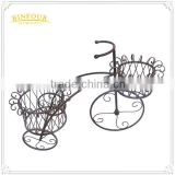 garden bicycle flower pot planter basket sculpture iron metal flower stand