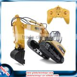 HUINA 1550 2.4GHz 15-channel electric rc toy excavator with an alloy digging bucket&lights, 680-degree rotation                                                                                                         Supplier's Choice