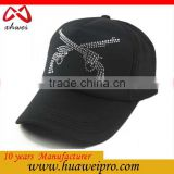 Alibaba china hot sale snapback caps custom fashion two guns diamond design foam and mesh trucker cap