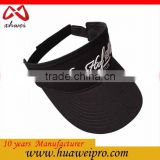 Alibaba China Latest Visor Hat 3D Embroidered OEM Promotion Cheap Summer Sports Sun Visor Cap