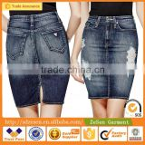 OEM Latest Plus Size Long Denim Jeans Skirt For Women Apparel From Guangzhou Maufacturer
