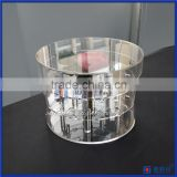 Fashion New design acrylic flower gift box round packaging luxury round flower box wholesale