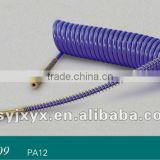trailer blue air coil hose long ender with spring