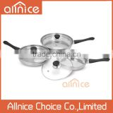 3 different size happy call pan non-stick pan with bakelite handle/stainless steel frying pan