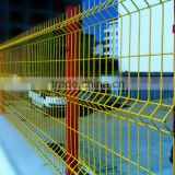 PVC Coated Triangle Bending Welded Wire Mesh Fence(curved fence)