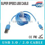 1.8m Hi-Speed 2.0 Micro USB Cable USB A to Micro B -blue