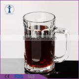 Eco-friendly high quality clear beer glass cup with handle                                                                                                         Supplier's Choice