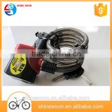 Folding bike cable alarm lock bicycle accessories