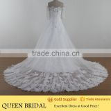 Ball Gown Off Shoulder Appliqued Lace Suzhou Wedding Dresses With Sleeves