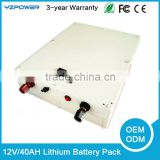 China wholesale 12v 40ah Lifepo4 lithium battery pack for LED Panel/light /street/solar system/energy replacement