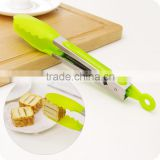 kitchen Plastic Stainless steel Bread Clip Cake Holder kitchen Food Clip Baked Goods BBQ Food Tongs Cookie Clamp