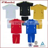 Blank Thai quality soccer jersey customized, wholesale kids football shirts, hot sale new design soccer shirts in stock