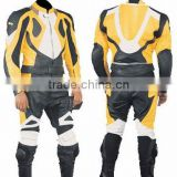 Leather Motor Bike Two Piece Racing Biker Suit