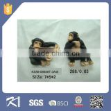 quanzhou kinsheng resin decorative custom monkey figurine fridge magnets for home decoration