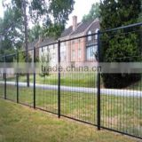 Cheap powder coated frame and iron metal frame used wrought iron material fence for home/hotel/cottage
