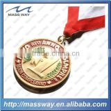 Die casting zinc alloy brass gold custom metal award medal